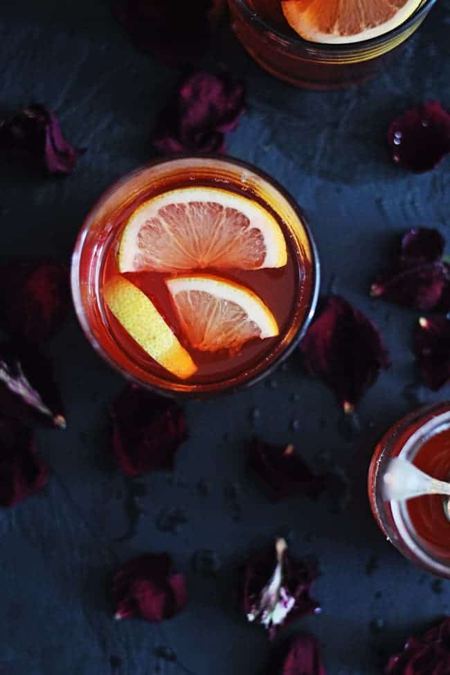 Rose Bourbon Cocktail | HelloGlow.co