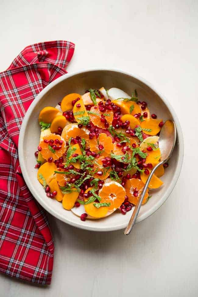 Vibrant Citrus + Pomegranate Winter Fruit Salad | HelloNatural.co