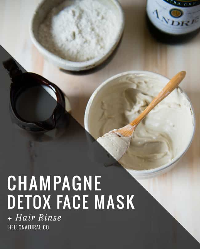 Champage Detox Face Mask + Hair Rinse | HelloGlow.co