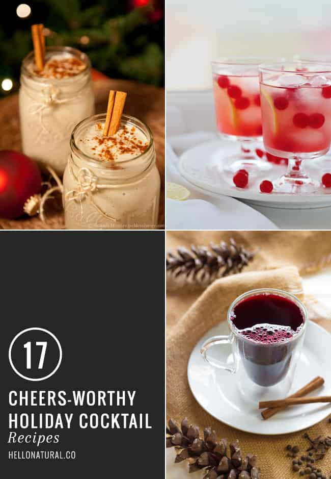 17 Holiday Cocktails | HelloGlow.co