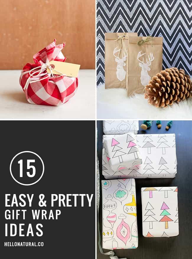 15 Easy & Pretty Gift Wrap Ideas | HelloGlow.co