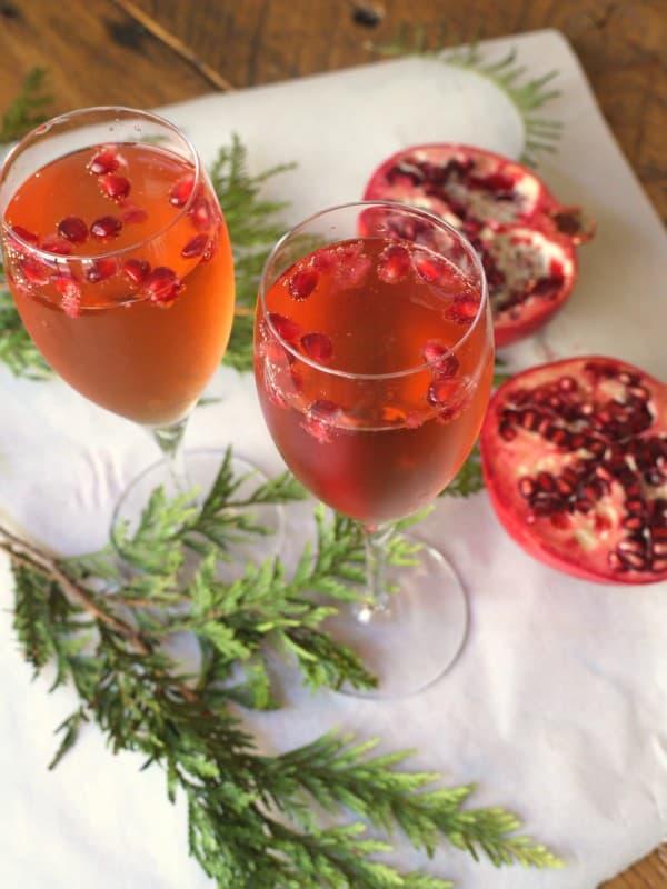 Blueberry Pomegranate Holiday Fizz