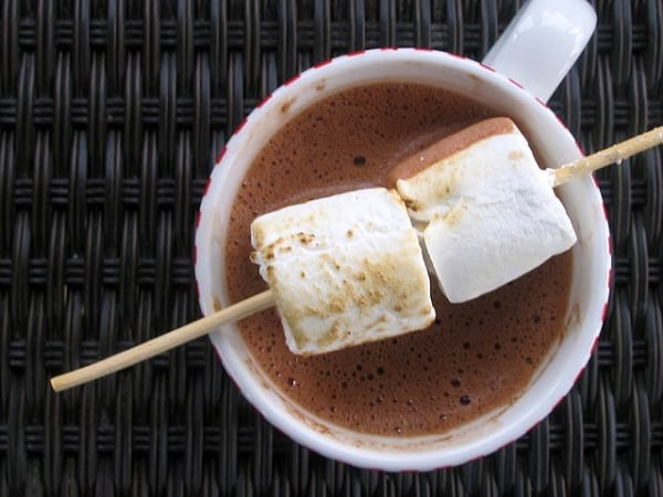 Salted Peanut Butter Hot Chocolate| 15 Yummy Hot Chocolate Recipes | HelloGlow.co