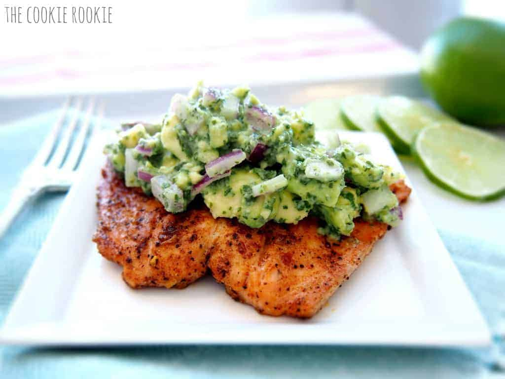 Salmon with Avocado