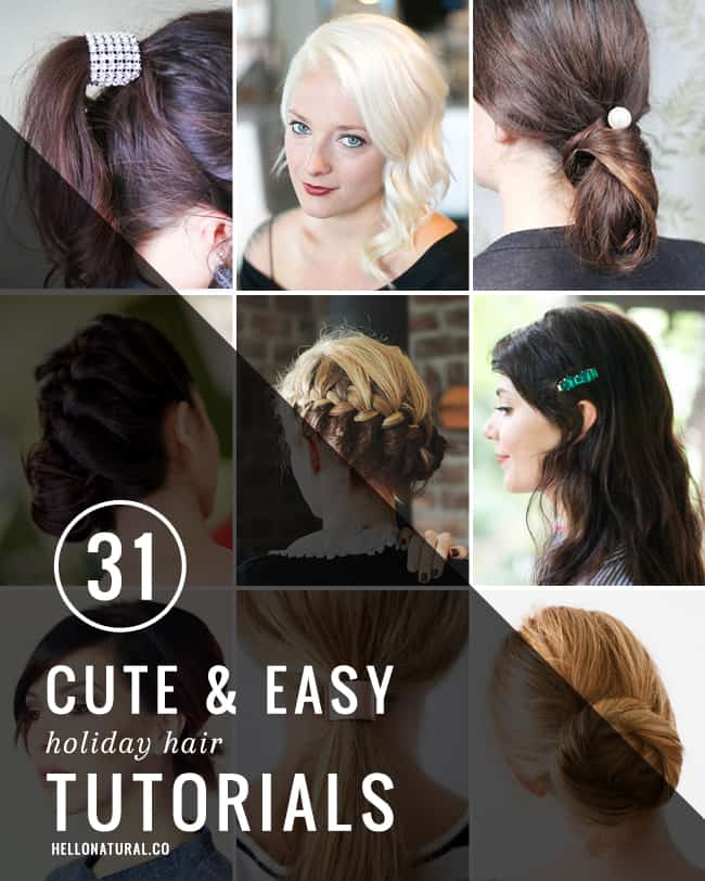 31 Of The Easiest Hairstyles For Holiday Parties Hello Glow