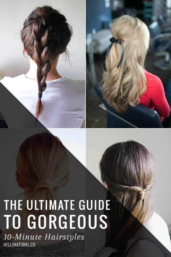 10-Minute Hairstyles | HelloGlow.co