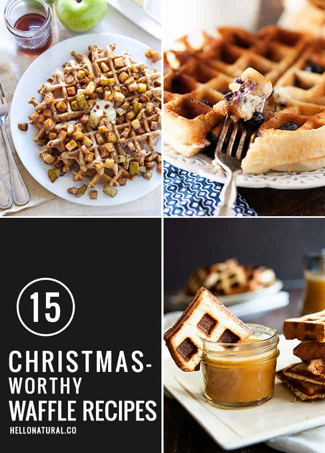15 Waffle Recipes Worthy of Christmas Morning | HelloGlow.co