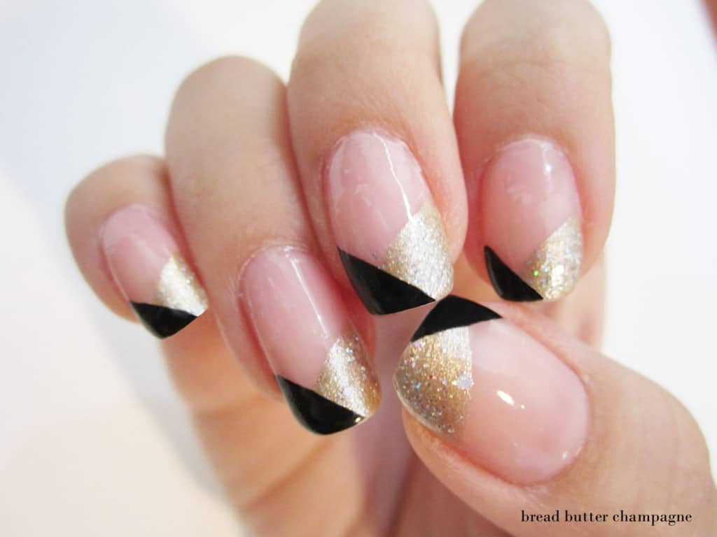 13 easy nail designs you can do with scotch tape hello glow art deco nail art by bread butter champagne nails that were inspired by the great gatsby count us in solutioingenieria Choice Image