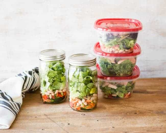 How To Pack a Week of Salads | 101 Healthy Lunches