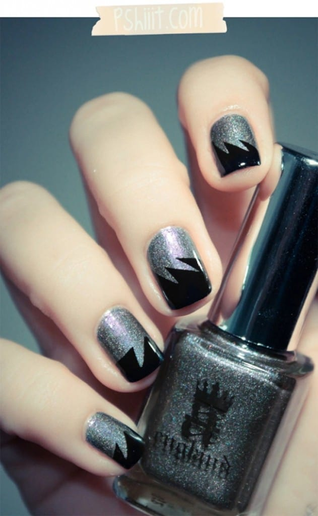 13 Easy Nail Designs You Can Do With Scotch Tape Hello Glow