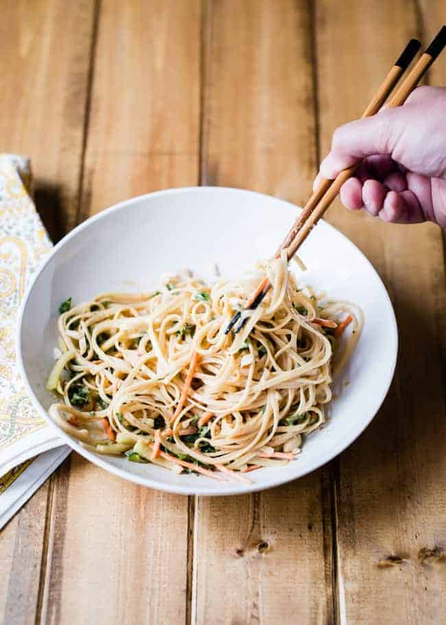 Sweet & spicy cold peanut noodles