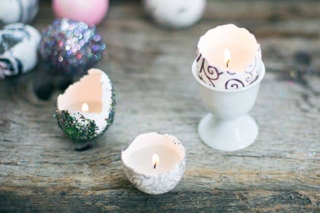 Eggshell candles | HelloGlow.co