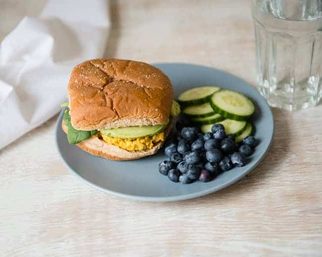 Mashed Chickpea Sandwich   5-Day Lunch Plan