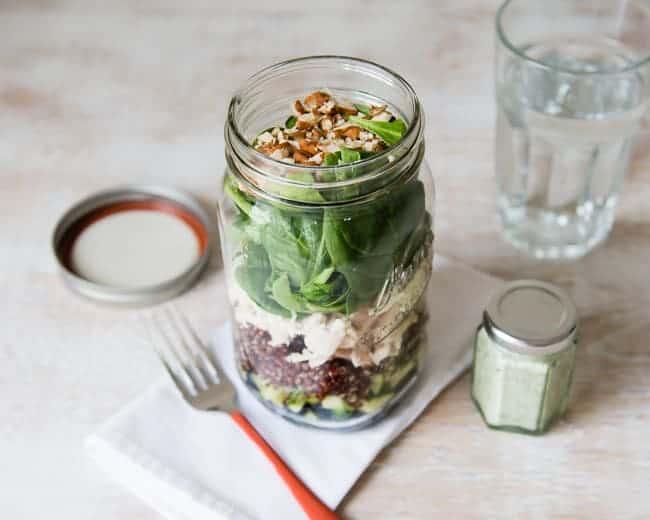 Layered Mason Jar Salad   5-Day Lunch Plan