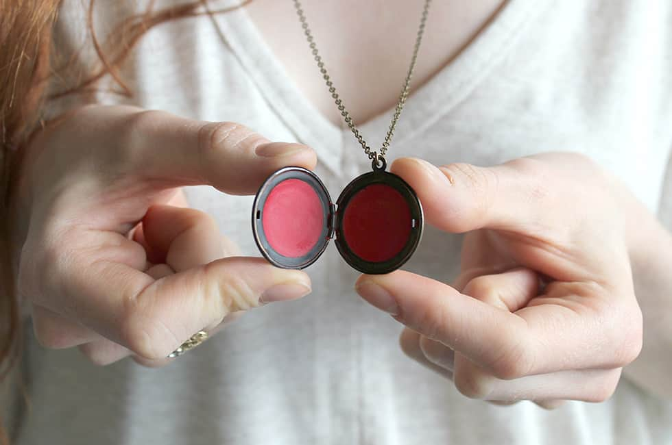 Locket lip balm |15 Natural Ways to Make Lip Gloss