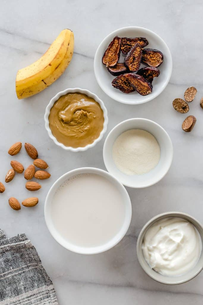 Almond Butter Fig Healthy Hair Smoothie