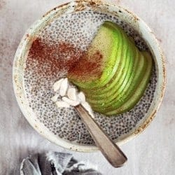 Healthy Apple Cinnamon Chia Seed Pudding