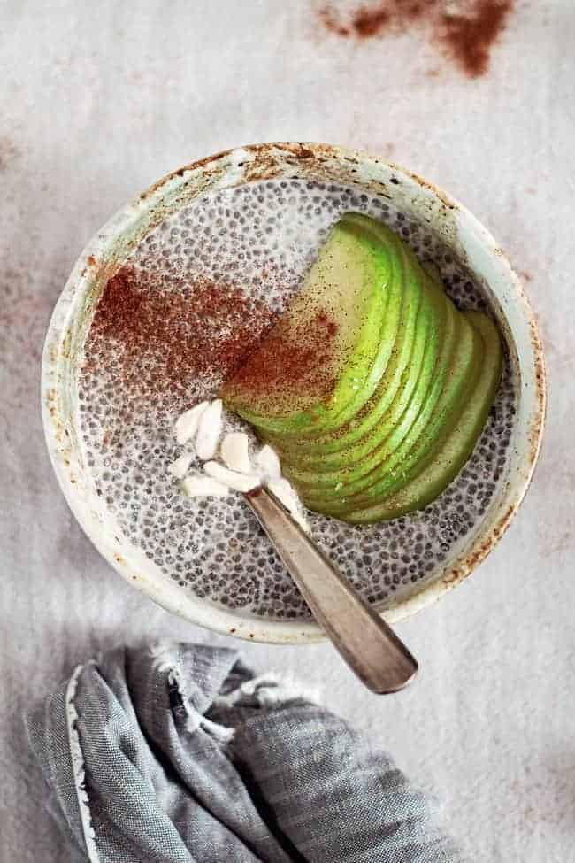 Apple Chia Pudding | 15 Ways to Boost Metabolism Naturally