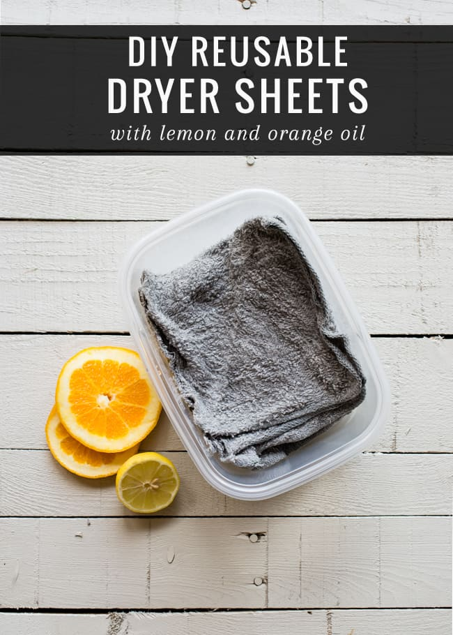 Make your own reusable dryer sheets