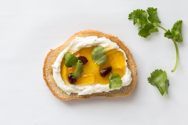 5 Tasty Healthy Toast Recipes to Try - Goat Cheese Chutney