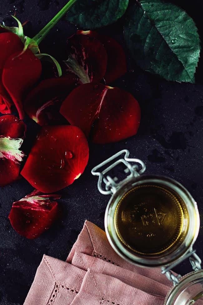 DIY Rose Almond Body Oil