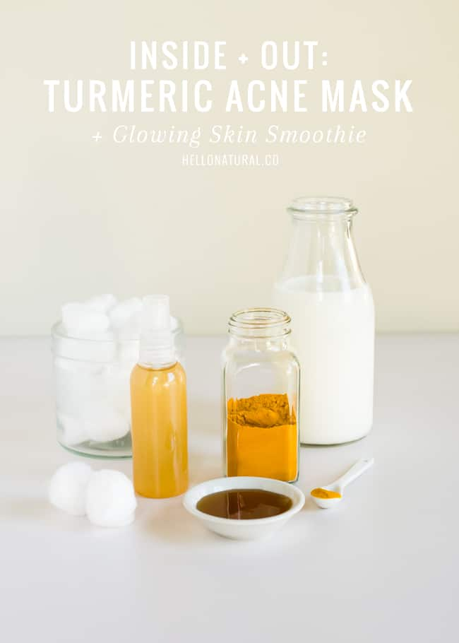 Turmeric Acne Mask + Smoothie