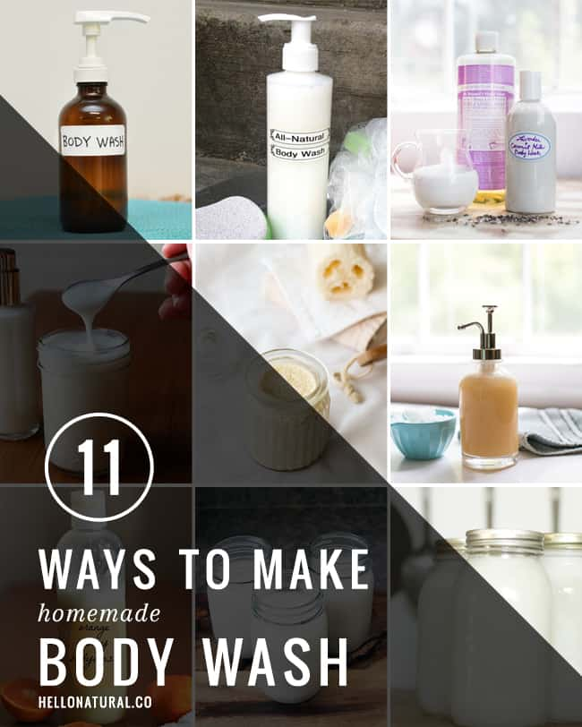 11 Ways to Make Homemade Body Wash | Hello Glow