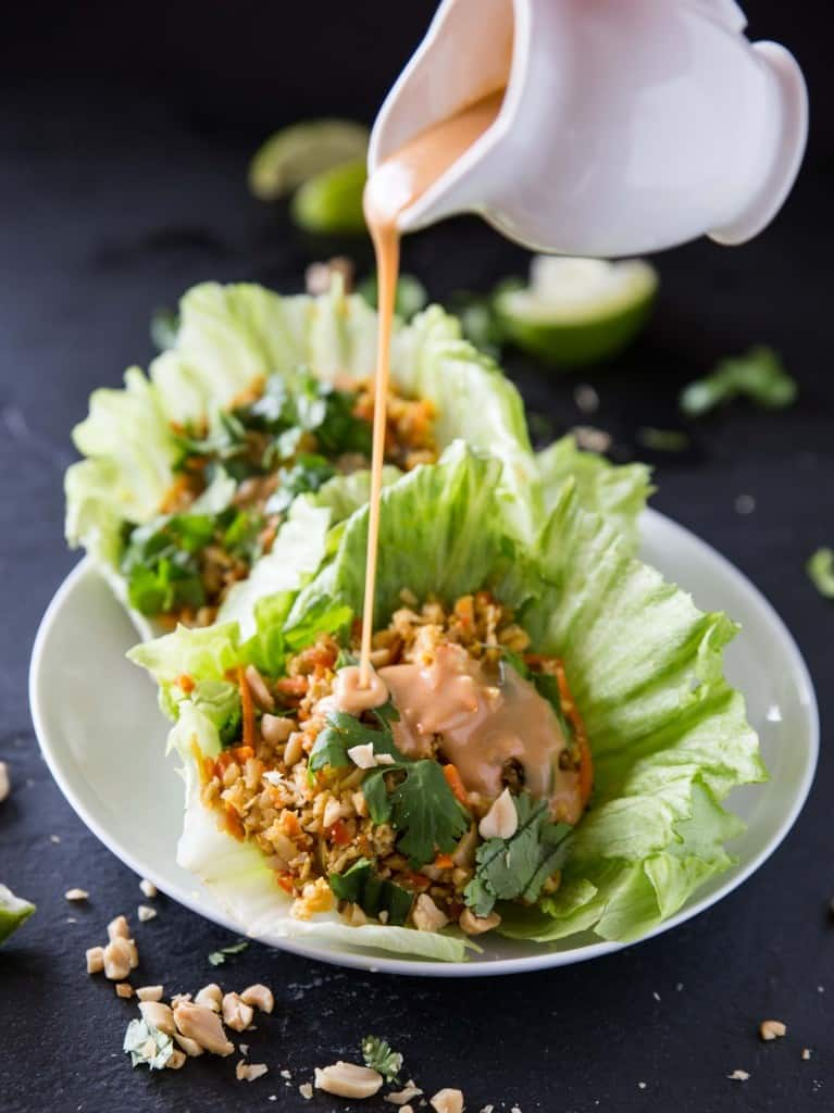 Cauliflower Rice Lettuce Wrap from Veggie and the Beast