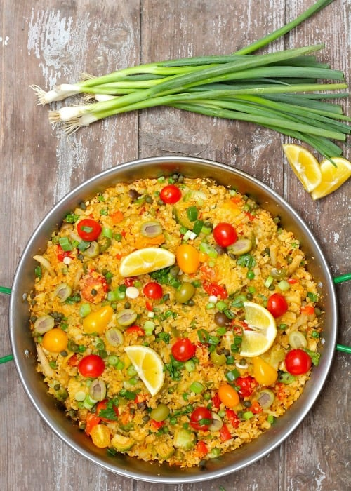 Cauliflower Rice Vegetable Paella