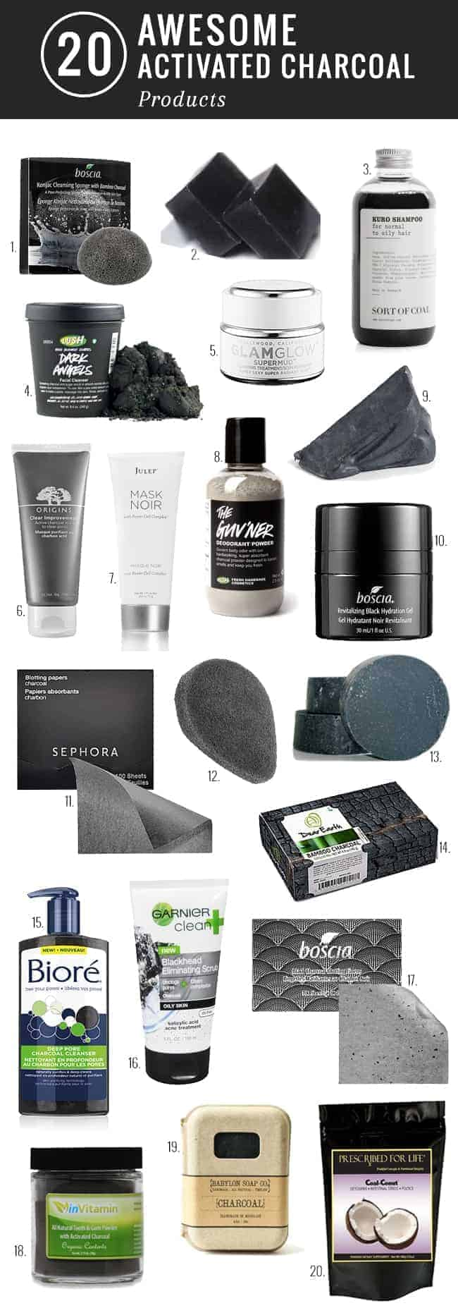20 Awesome Activated Charcoal Products | Hello Glow