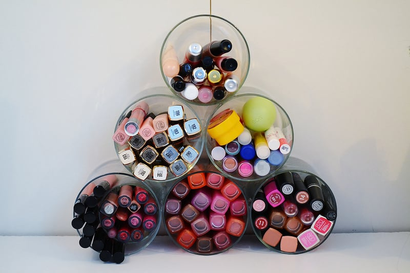 Cosmetic Organizer | 15 Clever DIY Makeup Storage + Organization Ideas