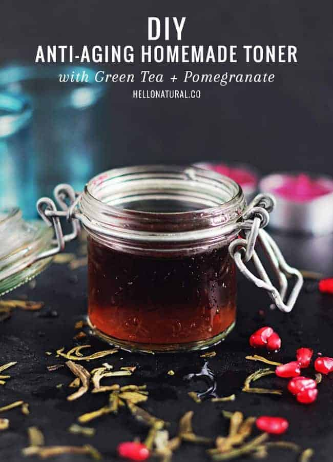 DIY Pomegranate & Green Tea Toner