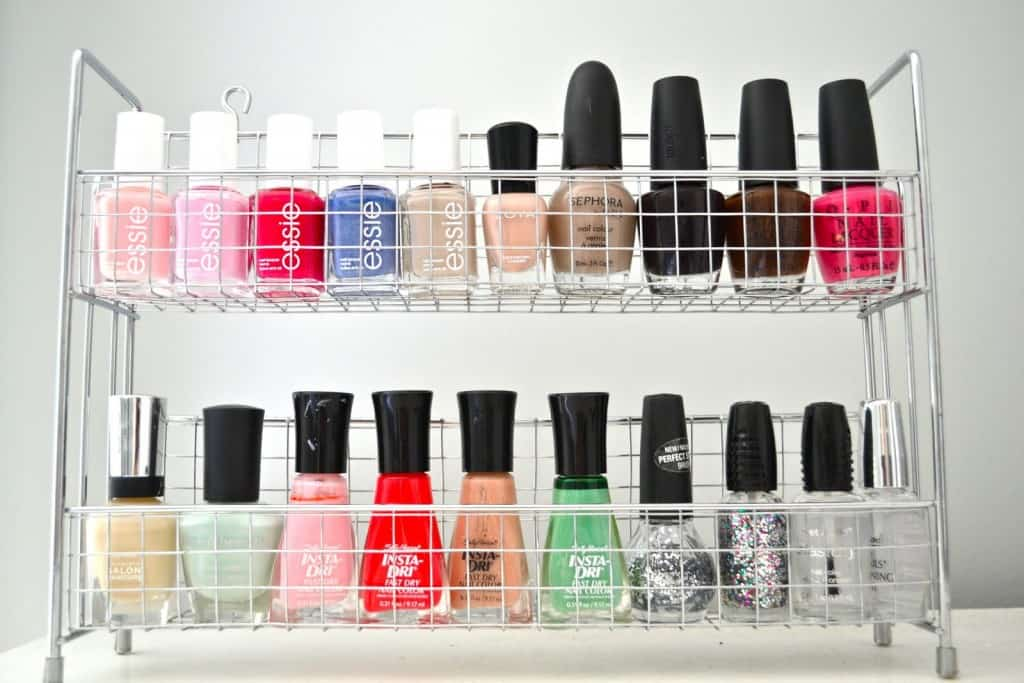 Nail Polish Organizer | 15 Clever DIY Makeup Storage + Organization Ideas