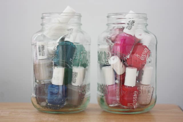 Nail polish storage | 15 Clever DIY Makeup Storage + Organization Ideas