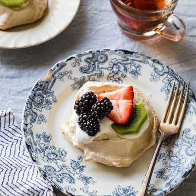 Easy Pavlova Recipe with Fresh Berries + Kiwi