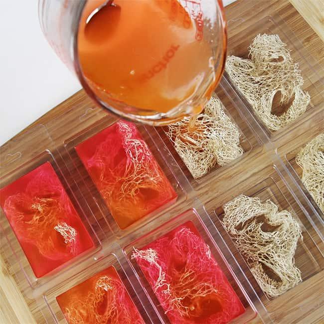 Diy Melt Amp Pour Loufah Soaps Handmade Beauty Box
