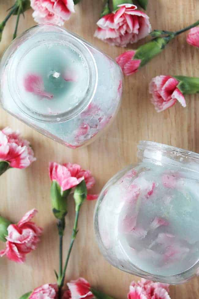 Pretty In Pink Diy Floral Candles Helloglow Co