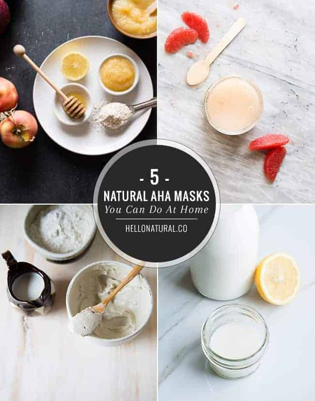 5 Natural AHA Masks You Can Make At Home