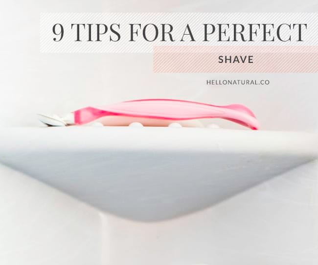 9 tips for a perfect shave + DIY Coconut Shaving Cream