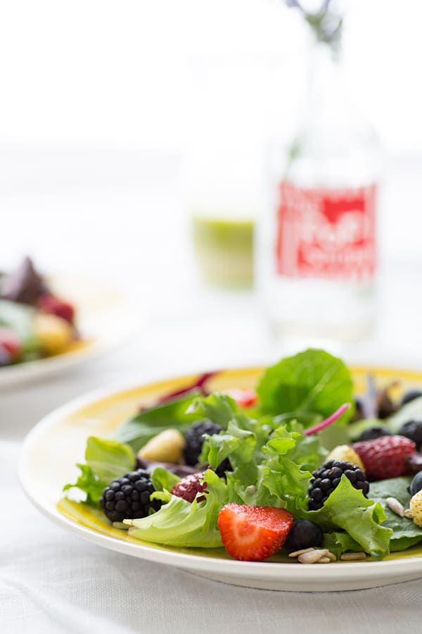 Spring Berry Salad with Lemon Verbena Vinaigrette