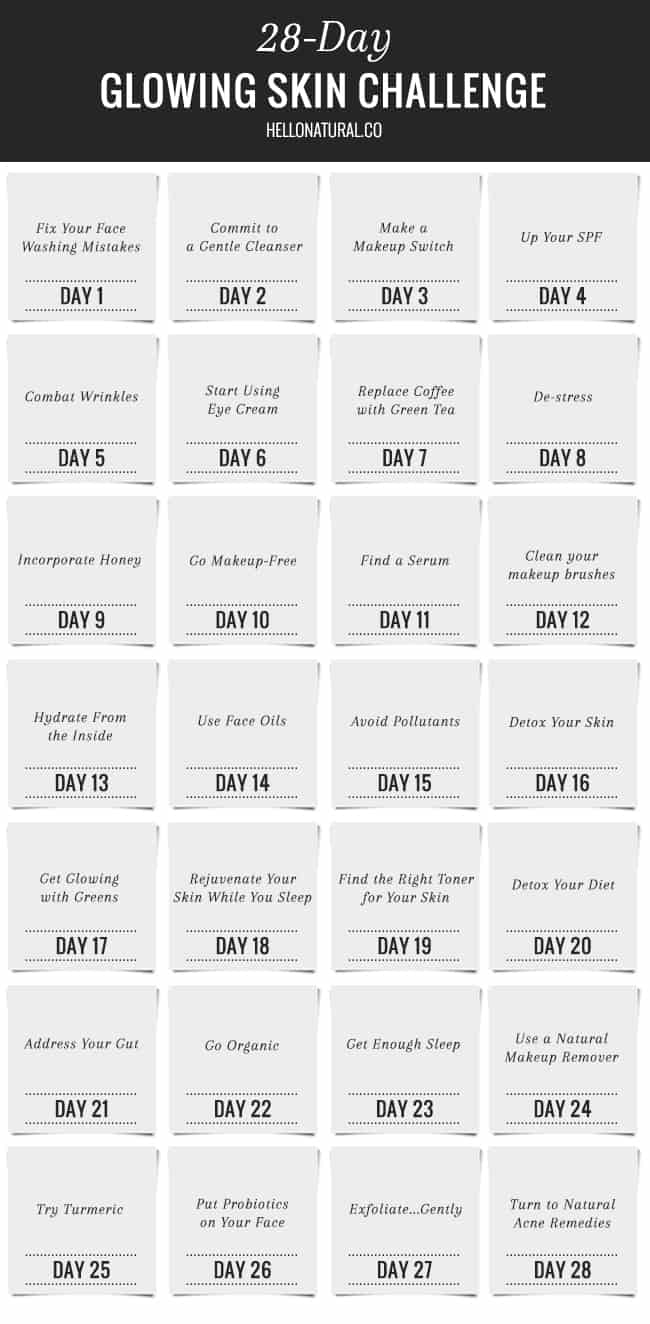 28-Day Glowing Skin Challenge