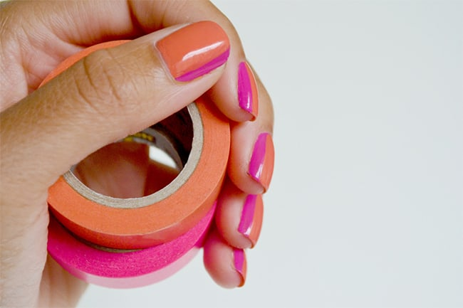 Sideways French Manicure   13 Pink Nail Tutorials
