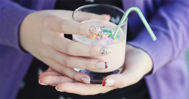 Pink Confetti Nails | 13 Pink Nail Tutorials