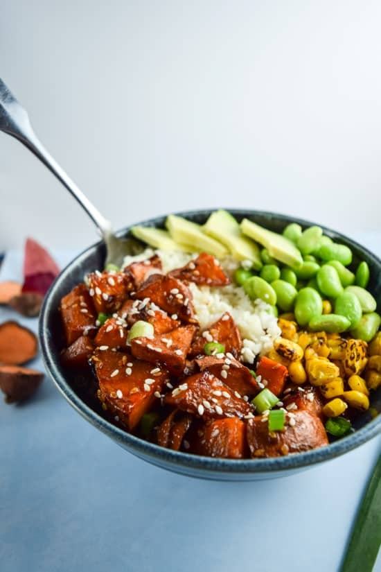 Teriyaki cauliflower rice bowls from Yup, It's Vegan