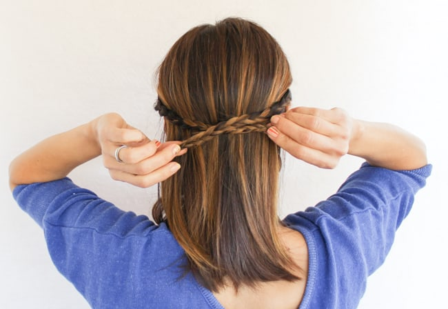 2-Strand Braided Crown | 3 Half-Up Hair Styles