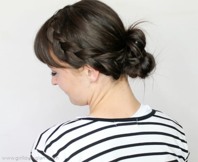 Messy braided double bun by Girl Loves Glam | 12 Bun Tutorials