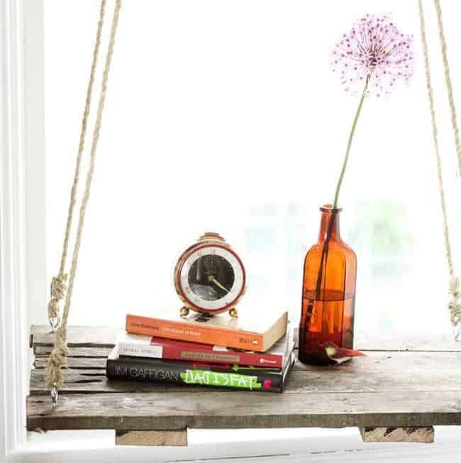 How To: Recycle a Pallet Into a Hanging Side Table