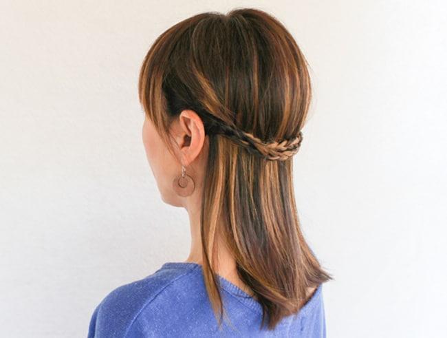 2-Strand Braided Crown | 3 Half-Up Hair Styles