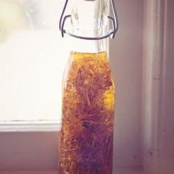 DIY: Skin Healing Calendula Oil for Face + Body