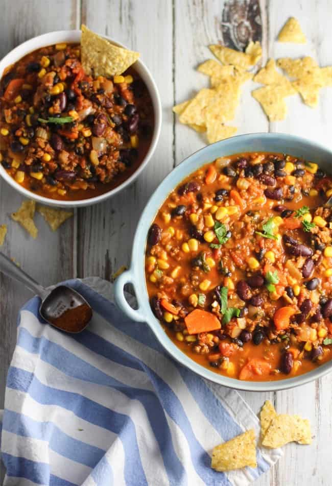 Ultimate vegan chili by Love and Lentils | 80 Make Ahead Freezer Meals